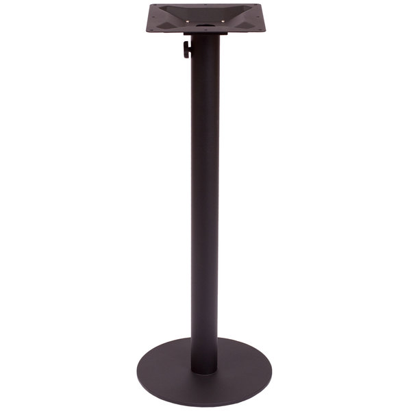 "BFM Seating PHTB24RBLTU Margate Bar Height Outdoor / Indoor 24"" Black Round Table Base with Umbrella Hole"