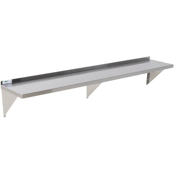 """Regency 16 Gauge Stainless Steel 15"""" x 84"""" Heavy-Duty Solid Wall Shelf Main Image 1"""