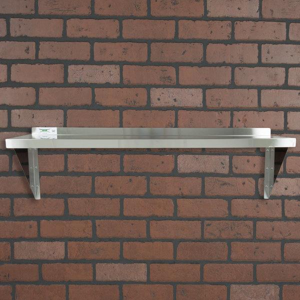 """Regency 18 Gauge Stainless Steel 15"""" x 48"""" Solid Wall Shelf"""