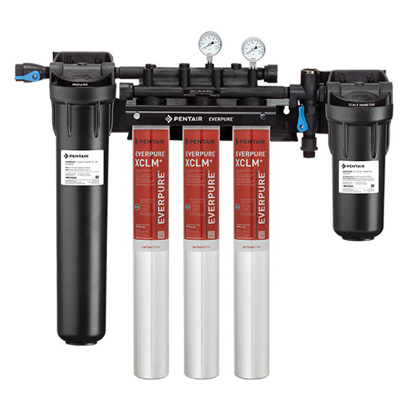 Everpure EV9761-33 High Flow CSR Triple-XCLM+ Water Filtration System with Pre-Filter and Scale Reduction - 5 Micron and 6/5.01/3 GPM Main Image 1