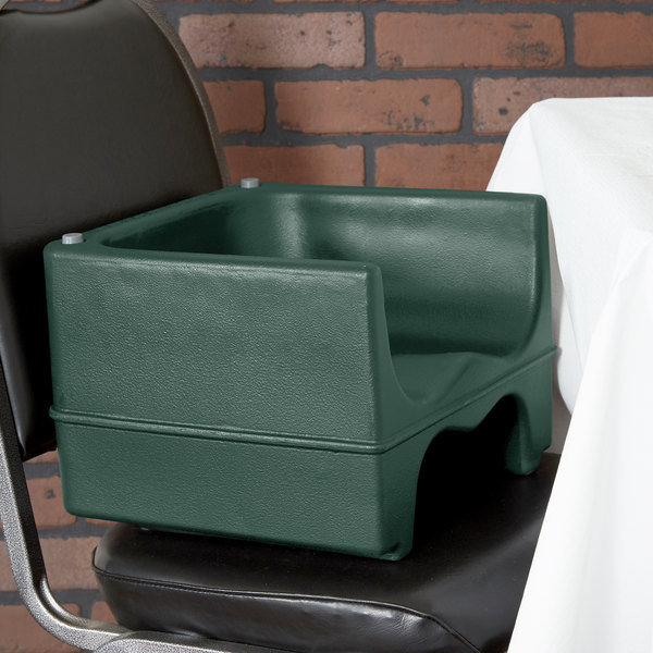 Cambro 200BC519 Green Plastic Booster Seat - Dual Seat