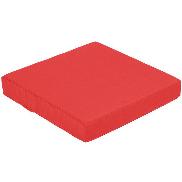 BFM Seating PH5101-CU5477 Aruba Logo Red Canvas End Armchair Cushion Set Main Image 1