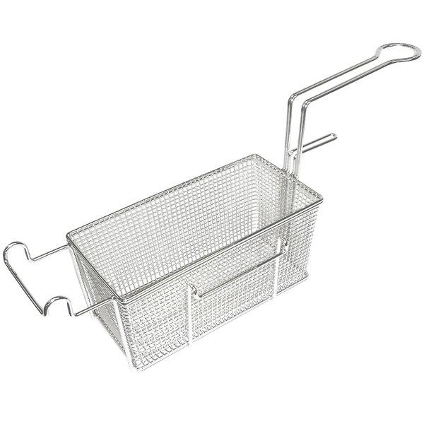 """APW Wyott 3101225 11 1/4"""" x 7 1/4"""" x 6 1/4"""" Left Side Full Size Fryer Basket"""
