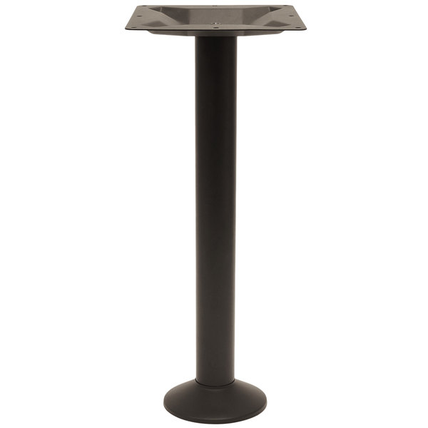 BFM Seating PHTBBDBL Alpha Bolt-Down Standard Height Outdoor / Indoor Black Table Base