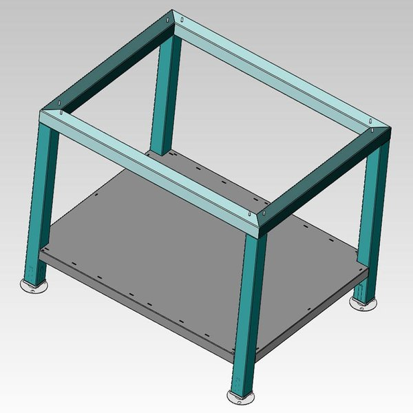 Alto-Shaam 5005731 Stationary Stainless Steel Stand for 7-14ES, 7-14ESG, 7-14ESi, 10-18ES, and 10-18ESi Combitherm Combi Ovens - with Shelf