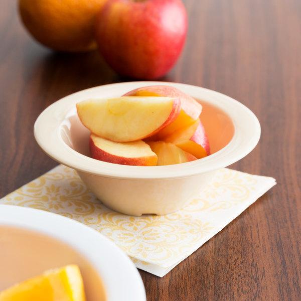 Thunder Group NS304T Nustone Tan Melamine Fruit / Monkey Dish 5 oz. - 12/Pack
