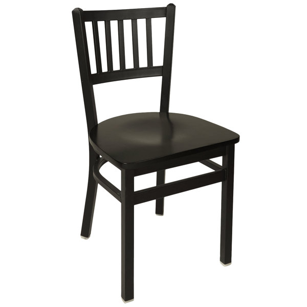 BFM Seating 2090CBLW-SB Troy Sand Black Metal Side Chair Main Image 1