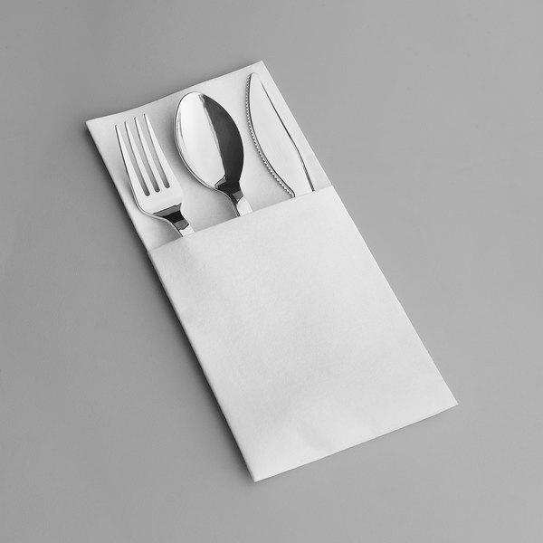 Restaurant Quality Linen Feel Black Napkin Set of 4