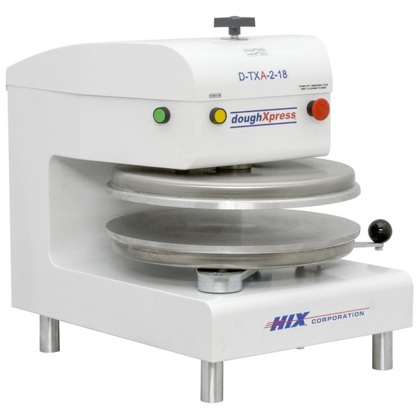 "DoughXpress D-TXA-2-18-WH Dual Heat Round Air Automatic Tortilla Press 18"" - White, 220V"