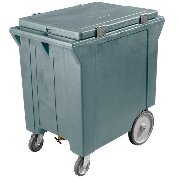 Carlisle IC222059 Slate Blue Cateraide 200 lb. Mobile Ice Caddy Main Image 1