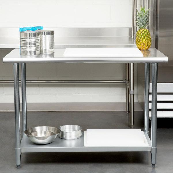 Gauge Economy X Stainless Steel Work Table With - 24 x 48 stainless steel work table