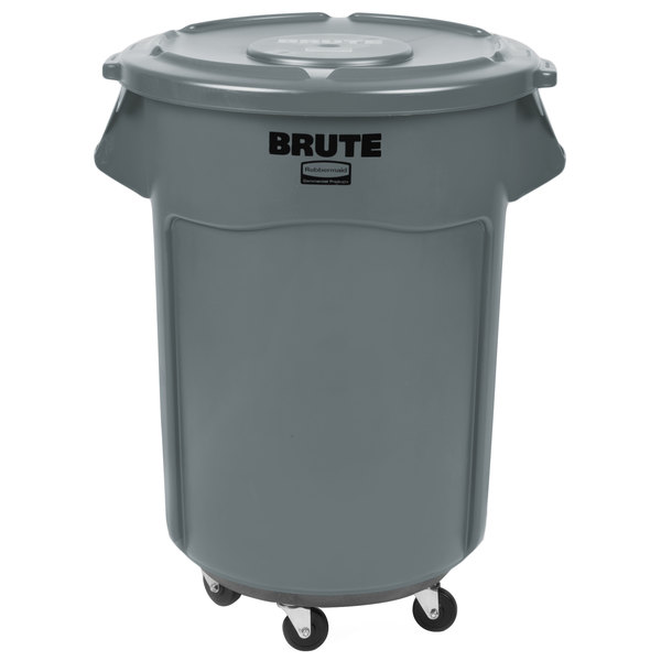 Rubbermaid Brute 55 Gallon Trash Can Lid Dolly Kit