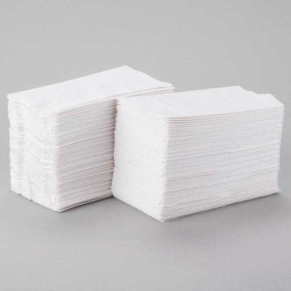 3000//carton 15 X 16 White 1//8 Fold Dinner Napkins