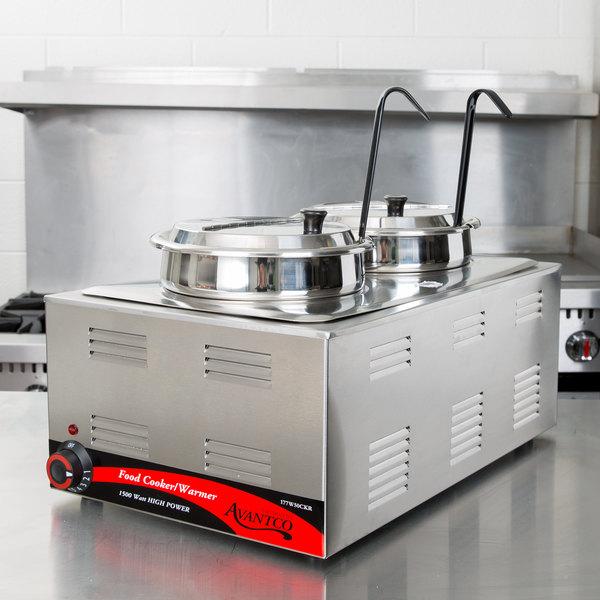 "Avantco W50CKR 12"" x 20"" Full Size Electric Countertop Food Cooker / Warmer - 120V, 1500W"