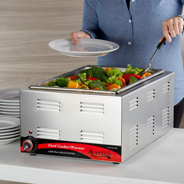 """Avantco W50CKR 12"""" x 20"""" Full Size Electric Countertop Food Cooker / Warmer - 120V, 1500W Main Image 3"""