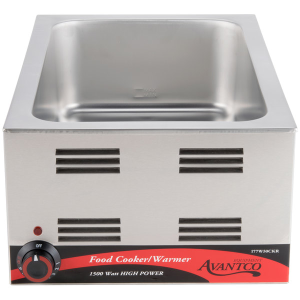 Avantco W50CKR 12 inch x 20 inch Full Size Electric Countertop Food Cooker / Warmer - 120V, 1500W