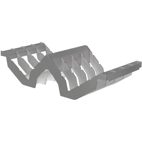 Cambro CSDR8151 Camshelving® Gray 8 Slot Drying Cradle