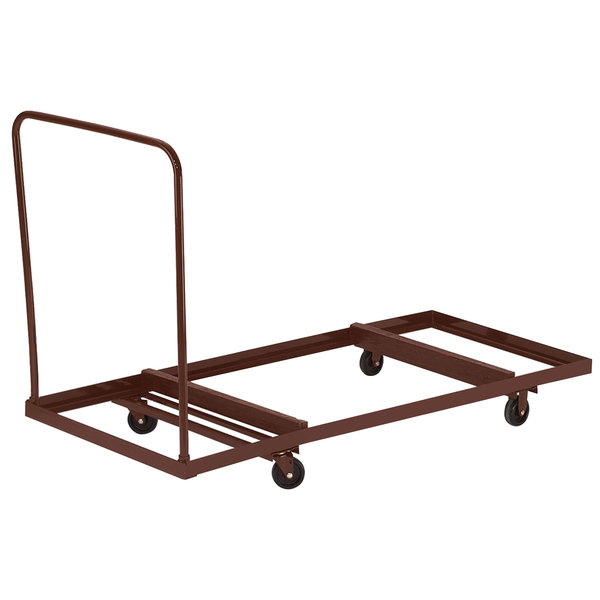 National Public Seating DY-3072 Rectangular Folding Table Dolly Main Image 1