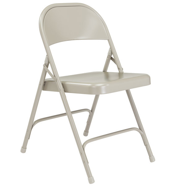 Stupendous National Public Seating 52 Gray Metal Folding Chair Ocoug Best Dining Table And Chair Ideas Images Ocougorg