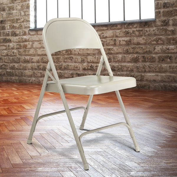 Brilliant National Public Seating 52 Gray Metal Folding Chair Ocoug Best Dining Table And Chair Ideas Images Ocougorg