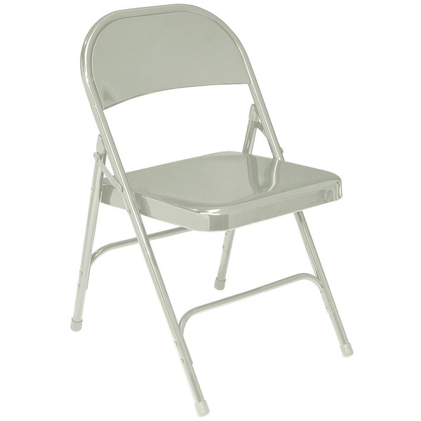National Public Seating 52 Gray Metal Folding Chair