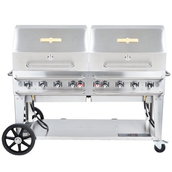 """Crown Verity RCB-60RDP Liquid Propane 60"""" Pro Series Outdoor Rental Grill with Roll Dome Package Main Image 1"""