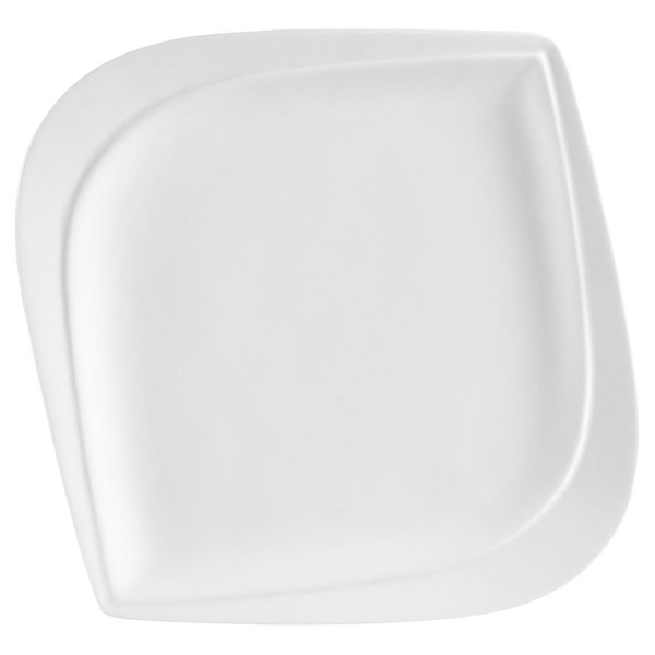 "CAC ASP-21 Aspen Tree Bone White Porcelain 12"" Plate - 12/Case Main Image 1"