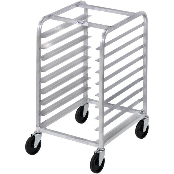 Channel 430A 8 Pan Aluminum End Load Undercounter Sheet / Bun Pan Rack - Assembled