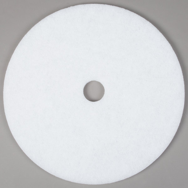 "Scrubble by ACS 41-27 Type 41 27"" White Polishing Floor Pad - 2/Case"