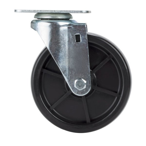 "Avantco SPC5 5"" Replacement Swivel Plate Caster for Avantco FF300, FF400, FF518 and Frymaster / Dean Floor Fryers Main Image 1"