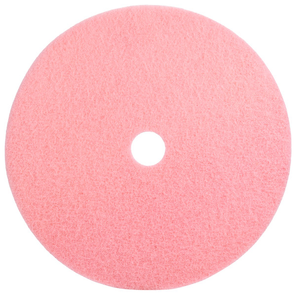 "Scrubble by ACS 36-27 Type 36 27"" Pink Burnishing UHS Floor Pad - 2/Case"