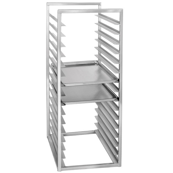 "Channel RIR-24S 24 Pan Stainless Steel End Load 20 1/2"" x 23"" x 51"" Sheet / Bun Pan Rack for Reach-Ins - Assembled"