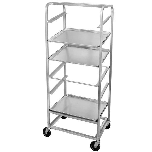 Channel SRS-7 7 Pan Side Load Angled Merchandising Cart