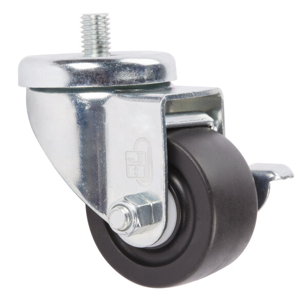 """Beverage-Air 00C31-041A Equivalent 3"""" Replacement Caster with Brake Main Image 1"""