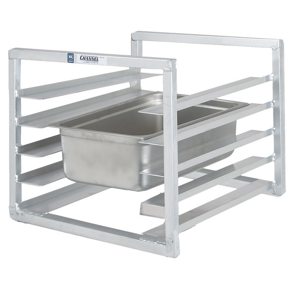 """Channel RIUTR-4 4 Pan End Load 20 1/2"""" x 23"""" x 23"""" Pan Rack for Reach-Ins - Assembled"""