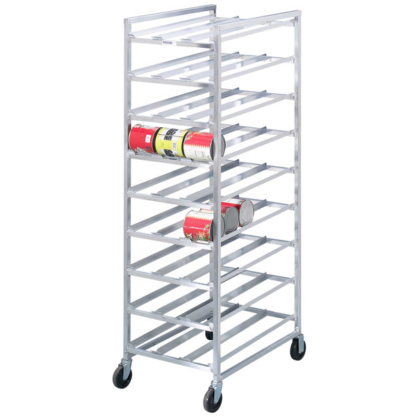 Channel CSR-9M Full Size Mobile Aluminum Can Rack for #10 and #5 Cans