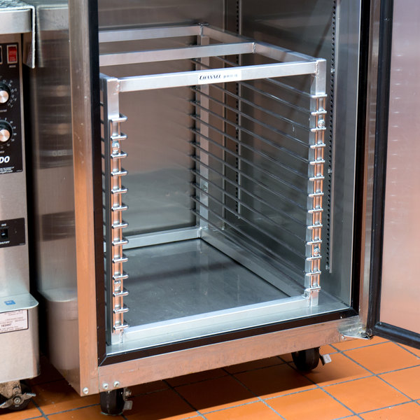 """Channel RIW-13S 13 Pan Stainless Steel End Load 25"""" x 20 1/2"""" x 23"""" Sheet / Bun Pan Rack for Reach-Ins - Assembled"""