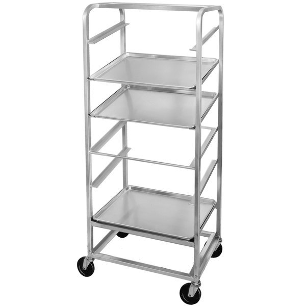 Channel SRS-11 11 Pan Side Load Angled Merchandising Cart