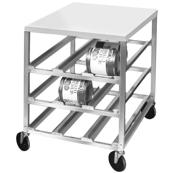 Channel CSR-3M Half Size Mobile Aluminum Can Rack for (54) #10 Cans with Aluminum Top