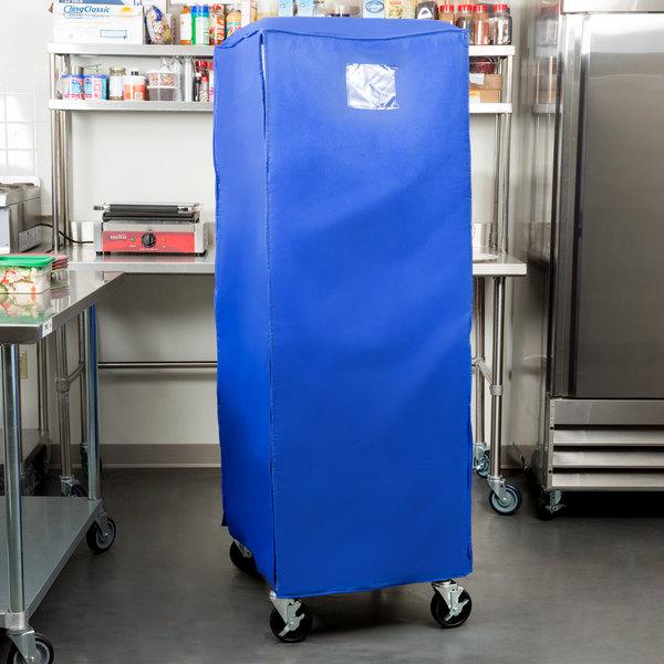 "Regency 63"" Blue Insulated Polyester Bun Pan Rack Freezer Cover Main Image 5"