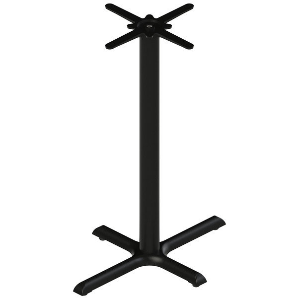 "FLAT Tech CT2022 22"" x 30"" Black Auto Adjustable Cast Iron Bar Height Table Base"