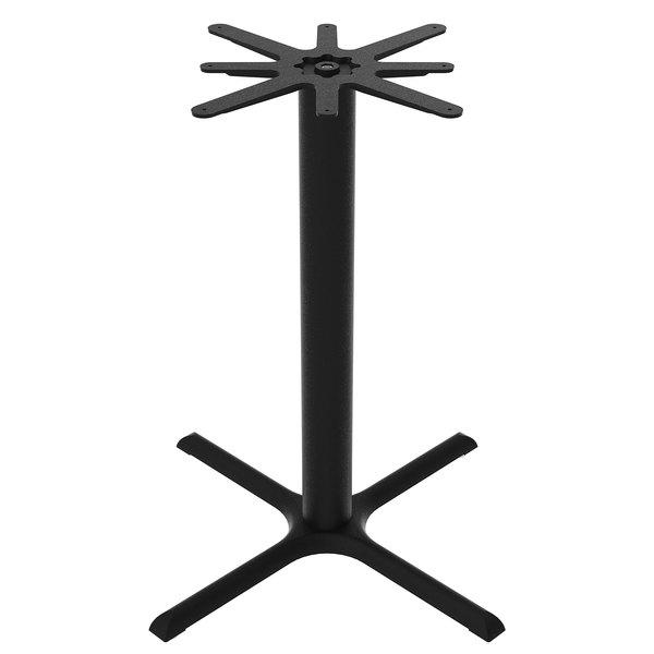 "FLAT Tech CT2036 36"" x 36"" Black Auto Adjustable Cast Iron Bar Height Table Base"
