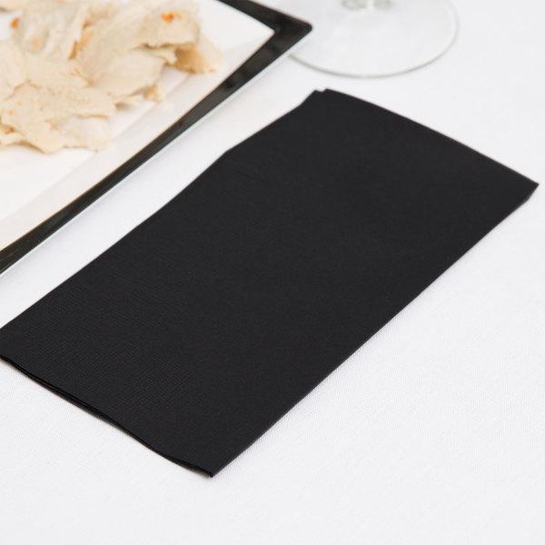 "Black Paper Dinner Napkin, Choice 2-Ply, 15"" x 17"" - 125/Pack"