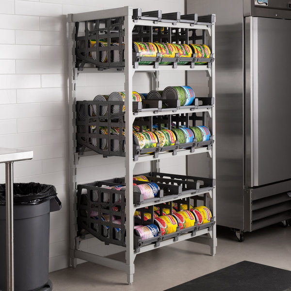 Cambro ESU243672C96580 Camshelving® Elements Full-Size Stationary Free Standing #10 Can Rack Unit Main Image 3