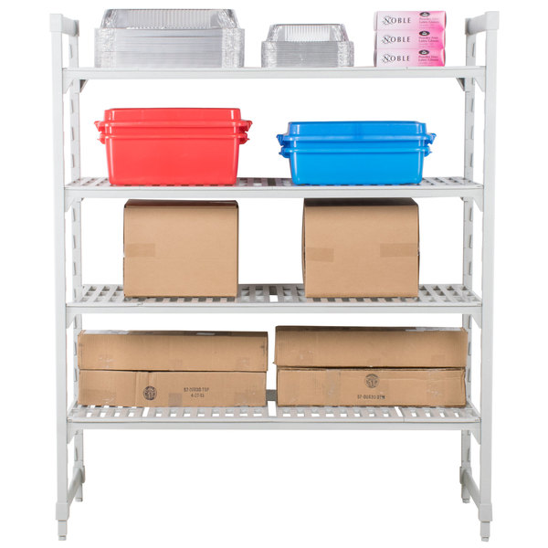 "Cambro CPU183072V4480 Camshelving® Premium Shelving Unit with 4 Vented Shelves 18"" x 30"" x 72"""