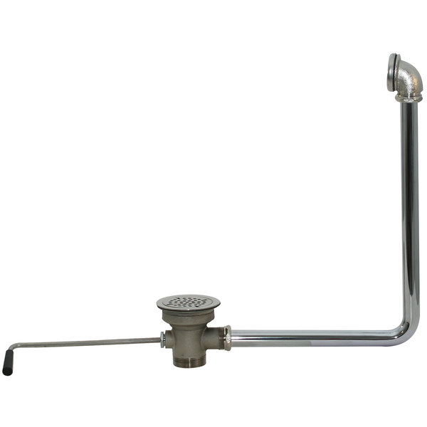 """Advance Tabco K-15 Twist Handle Waste Valve with Overflow Assembly - 3 1/2"""" Sink Opening"""