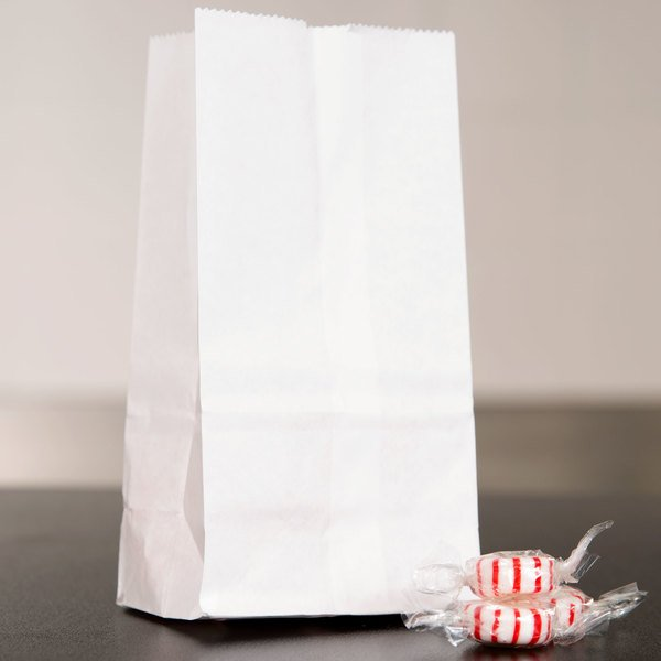 Duro 1 lb. White Paper Bag - 500/Bundle