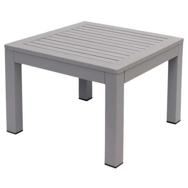 BFM Seating PH6105SG Belmar Soft Gray Aluminum End Table