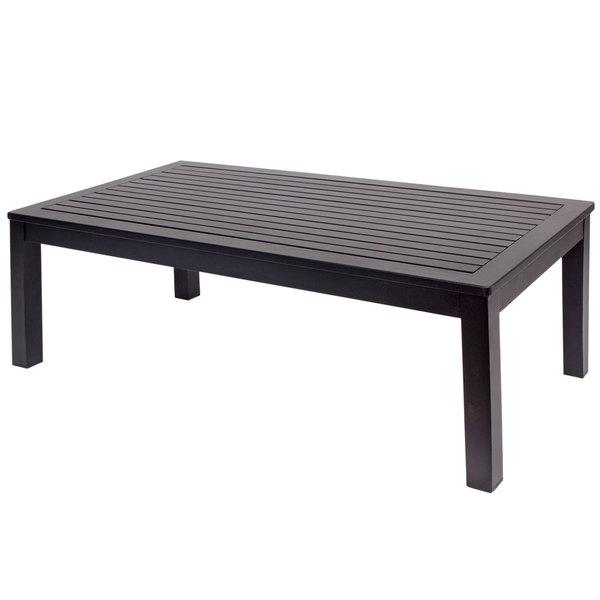 BFM Seating PH6104BL Belmar Black Aluminum Coffee Table