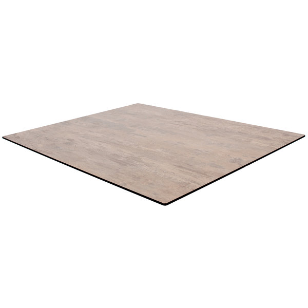 """BFM Seating TR3636SB Tribeca 36"""" x 36 Square Sandbar Composite Laminate Outdoor / Indoor Table Top with Knife Edge"""